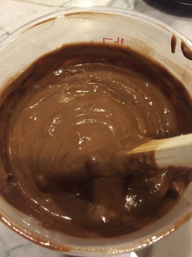 making chocolate pb ice cream